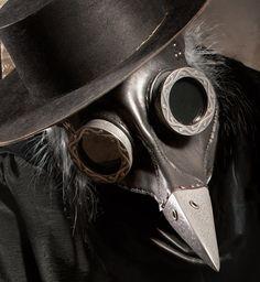 Steampunk Plague Doctor Mask in black Ichabod