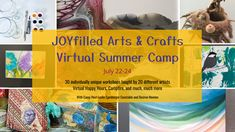 JOYfilled Arts & Crafts Virtual Summer Camp, not only is it the hottest ticket in town for adults and teens this summer…, but I'm also teaching a session! I'll tell ya more about that in a bit but first, let me share more about the camp itself! It's a 3-day event (July 22-24) FULL of... Camp Songs, Hot Tickets, Artist Trading Cards, Field Guide, Workshop, Arts And Crafts, Camping, Joy, Teaching