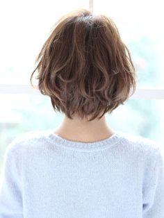 前髪あり ボブパーマのヘアアレンジ 髪型15選 パーマスタイル