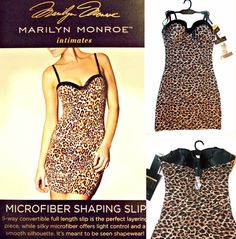 NWT Marilyn Monroe Convertible Seamless Shaping Slip with belly band S,M,L,XL