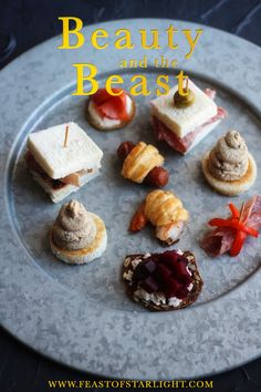 Recipes for hors d'oeuvres with the grey stuff inspired by the Be Our Guest scene in the Disney animated movie, Beauty and the Beast 30 Life-Saving Beauty Hacks Every Lady Must Have Beauty And The Beast Party, Disney Beauty And The Beast, Gray Stuff Recipe, Hors D'oeuvres, Tray Bakes, Food Inspiration, Food And Drink, Desserts, Disney Recipes