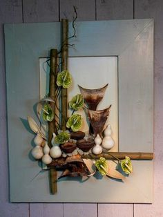 Schilderij Art Floral, Deco Floral, Floral Design, Simple Flowers, Dried Flowers, Flower Frame, Flower Art, Corporate Flowers, Nylon Flowers