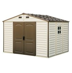 Duramax Storage Sheds - 30211 10.5'x8' Woodside Vinyl Shed with Foundation