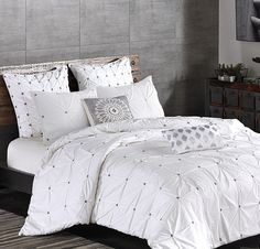 Maison Tufted White Duvet Cover Set Versatile Bedding For Contemporary And Traditional Bedrooms Boho