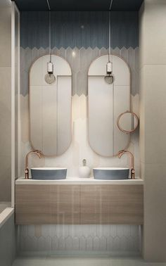 Hey everyone! These bathroom are perfect for the bathroom vanities bathroom vanities double sink bathroom vanities ideas bathroom vanities diy bathroom vanities small are wonderful so you need to try them out! Double Sink Bathroom, Bathroom Sink Vanity, Bathroom Toilets, Modern Bathroom, Small Bathroom, Master Bathroom, Double Sinks, Bathroom Ideas, Modern Sink