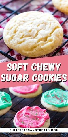 Chewy, soft sugar cookies are the perfect treat for any occasion. This no-chill dough recipe is super easy and results in the perfect drop sugar cookie. You can either roll them in sugar or frost them with my favorite frosting that hardens. Plus, they freeze great which makes them the perfect cookie for making ahead of time for the holidays. Your cookie tray won't be complete without them!