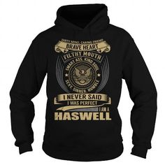 Awesome Tee HASWELL Last Name, Surname T-Shirt T shirts