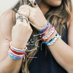 Stacked with Pura Vida from our girls over at @swell_style! Happy Friday PV Fans! #swell X #puravidabracelets