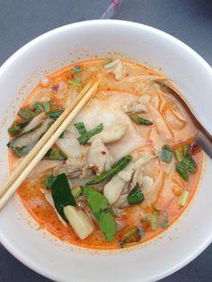 Tom yum noodle.  November, 17th 2015. Bangkok, Thailand.