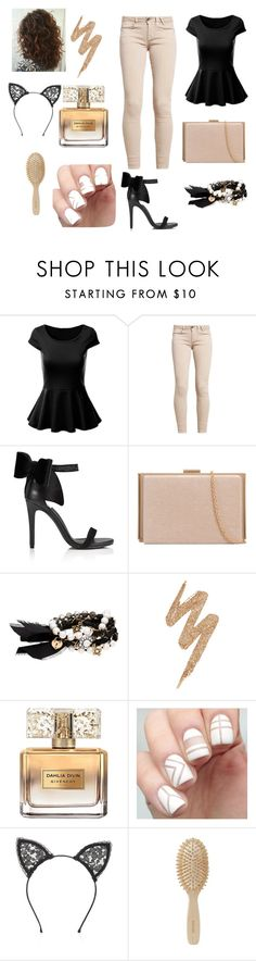 """""""Haters on my body shake em off"""" by s-h-a-n-i-k-a ❤ liked on Polyvore featuring GUESS, Miss Selfridge, Chloe + Isabel, Urban Decay, Givenchy, Fleur du Mal and Meraki"""