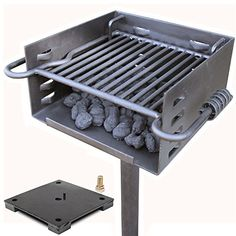 Titan Single Post Park Style Grill Charcoal Grill w Base Anchor BBQ Heavy Camp *** Want to know more, click on the image.