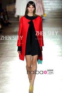 Proverbs poem elegant clothing custom European style fashion simple and generous and elegant red round neck casual loose windbreaker jacket  $638.71