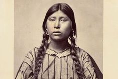 """A Pawnee woman identified only as """"Squaw of Tu-Tuc-A-Picish-Te-Ruk."""" Detail from Sequence Vol. Nebraska, Oklahoma, Native American Photos, Native American Indians, Native Americans, South Dakota, Indian Names, Archaeology News, Plains Indians"""
