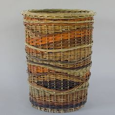 "Katherine Lewis willow basket at Museo Gallery in Langley, WA as part of show ""Entwined"" for the month of October, 2015."