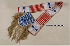 bandolier bag ca 1850, coll. by Agent Twiss at Ft Laramie ca. 1855.  NMAI
