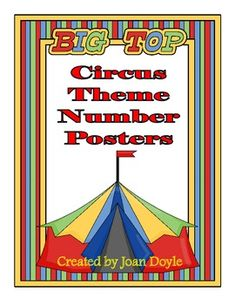 You will love these colorful Circus Theme Number Posters and they will go great with your circus themed classroom.  There are five adorable patterns with circus animal décor.  The posters are 8 1/2 by 11 and include the numbers 0-20, number, number recognition, number word, and ten frame printed on each one.  They can be used for displaying in the classroom, on your bulletin board, word wall or flashcards.  Just print and laminate.  Aligned with Common Core Standards.