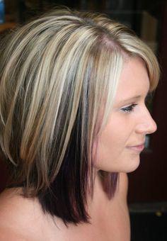 Short Blonde Hair with Black Underneath