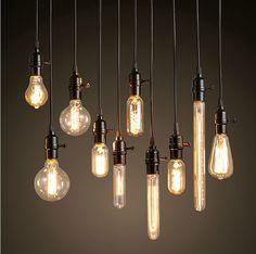 1000 id es sur lustres aux ampoules d 39 edison sur pinterest dalle en boi - Lustre multi ampoules ...
