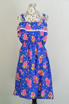 Vintage 1960s  1970s floral sundress  60s by 86CharlotteStreet, $49.00