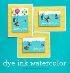 Video: Dye Ink Watercolor   Jennifer McGuire Ink