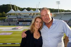 Managing Director, Katie Whirledge, and legendary England cricketer, Sir Ian Botham, at the launch of BEEFY'S Restaurant.