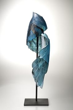 Takenouchi, Naoko, Artist, Flight #5, 2008, blown glass with copper leaf, sandblasted, H 58cm x W15cm x D13cm