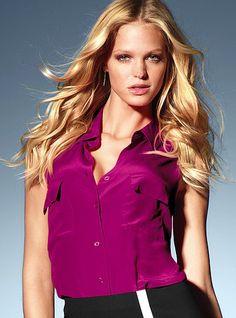 Silk Sleeveless Shirt - Victoria's Secret