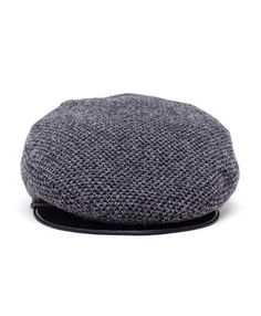INVERNI - Tweed and Leather Flat Cap