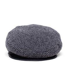 INVERNI - Tweed and Leather Flat Cap
