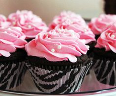 Perfect Pink Zebra Cupcakes :)