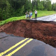 Sinkhole from Duluth flood on June 20, 2012.
