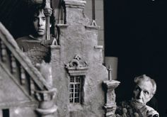 Tim Burton & Vincent Price behind the scenes on Edward Scissorhands