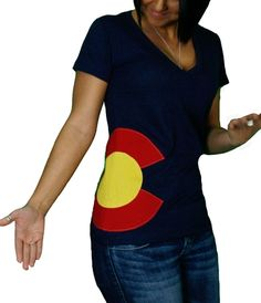 C-List Ladies Colorado Hipster T-Shirt | Great Colorado Flag Apparel | Colorado T Shirts