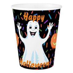 #party - #Happy Ghost Halloween Paper Cups