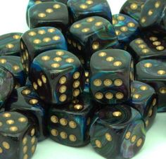 Chessex Dice - Lustrous - 12mm d6 with pips - Shadow gold for �8.00 plus postage from thediceplace.com