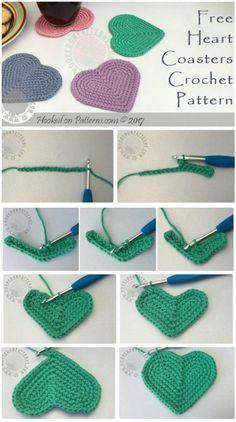 70 Easy Free Crochet Coaster Patterns for Beginners - Page 13 of 14 - DIY & Craf. 70 Easy Free Crochet Coaster Patterns for Beginners - Page 13 of 14 - DIY & Craf. Crochet Motifs, Basic Crochet Stitches, Crochet Basics, Easy Crochet Patterns, Knitting For Beginners, Crochet Designs, Knitting Patterns, Start Knitting, Beginner Crochet