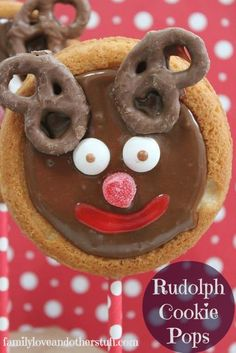 Rudolph Cookie Pops | Holiday Party Idea