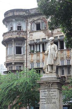 Statue of Maneckji Petit, Gowalia Tank, Mumbai India Architecture, Revival Architecture, India Travel, India Trip, Colonial India, Mumbai City, Bollywood Pictures, Mumbai Maharashtra, Old Mansions