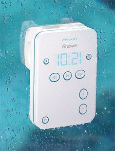 iShower, Water Resistant Speaker....I will be putting this on my Christmas list!
