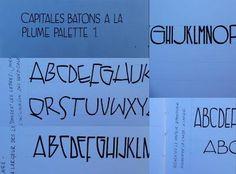 Cursus calligraphique : Capitales bâton à la plume palette et au colapen Palette, Alphabet, Cards Against Humanity, Personalized Items, Images, Calligraphy, Feather, Letters, Search