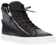 Giuseppe Zanotti Design zip detail hi-top sneakers on shopstyle.com