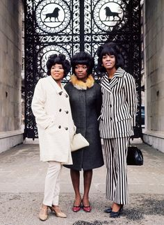 Martha and the Vandellas in Marble Arch, London, 1966.