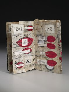 Excessive Talking by margaret couch cogswell - mixed media, recycled paper, paper bag, davey board, ink, shellac  #paper_crafting #book_arts