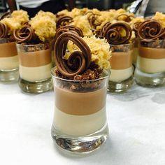 Hazelnut Praline mousse chocolate panna cotta Gianduja crumble  praline sponge  Gianduja wire #TagsForLikes…