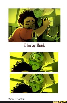 """Steven once told Peridot that you give gifts to people and they say """"wow, thanks"""" to show how grateful they are."""