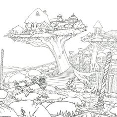 Legendary Worlds Is An Epic New Coloring Book For Adults This Will Feature 85 Beautiful Illustrations