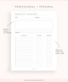 Work Planner, Business Planner, Planner Layout, Weekly Planner, Planner Ideas, Notes Template, List Template, Templates, Project Planner Template