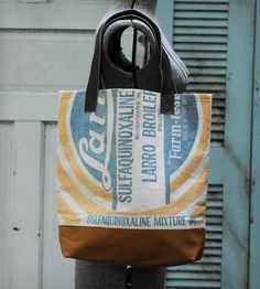 Vintage Feed Sack Tote Bag - Larro by Hawks and Doves on Scoutmob Shoppe
