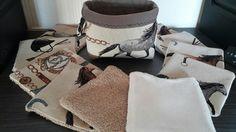 Pochon et ses 10 lingettes lavables motif équitation