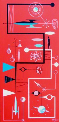 by El Gato Gomez -Retro Atomic Energy - Space Age Illustration